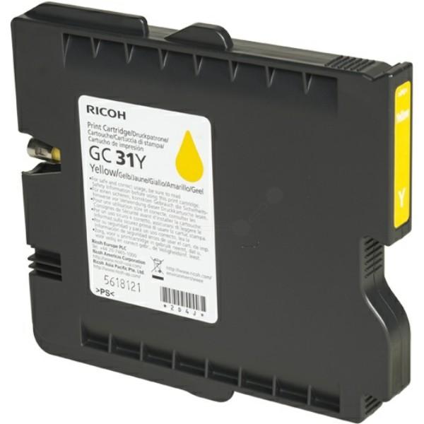 Original Ricoh 405691 / GC-31 Y Gelkartusche gelb 1.750 Seiten