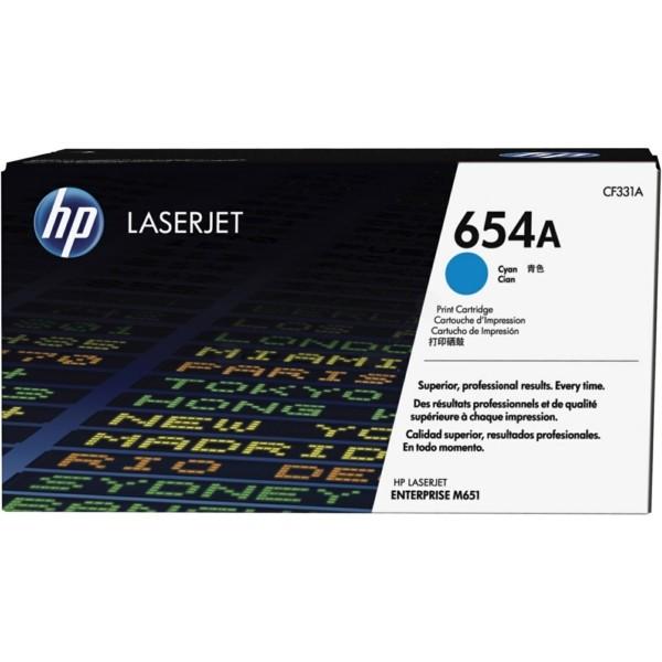 Original HP CF331A / 654A Tonerkartusche cyan 15.000 Seiten