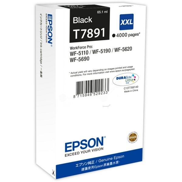 Original Epson C13T789140 / T7891 XXL Tintenpatrone schwarz XXL 65,1 ml 4.000 Seiten
