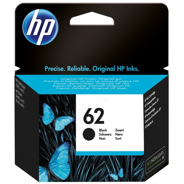 Original HP C2P04AE / 62 Druckkopfpatrone schwarz 200 Seiten