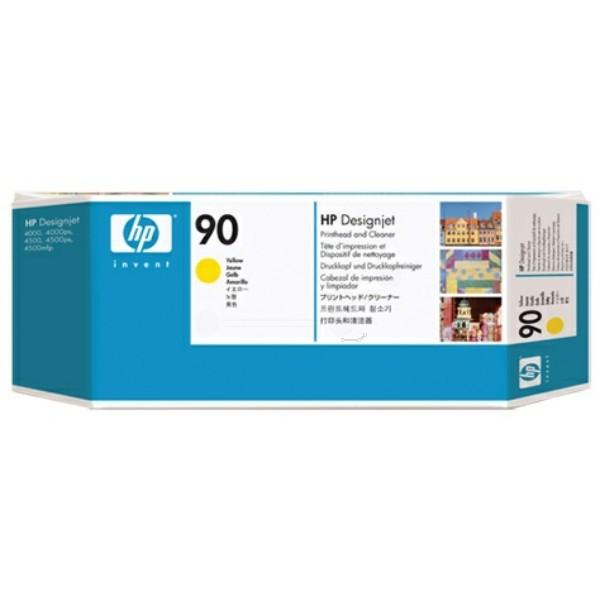 Original HP C5057A / 90 Druckkopf gelb +Druckkopfreiniger 400 ml