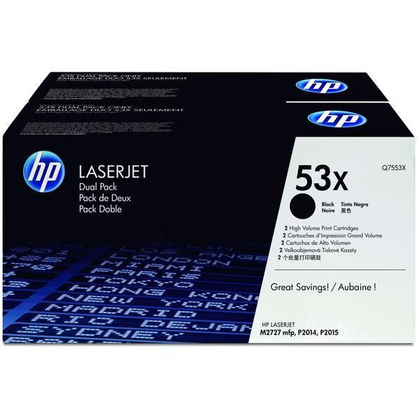 Original HP Q7553XD / 53XD Tonerkartusche schwarz Doppelpack 7.000 Seiten
