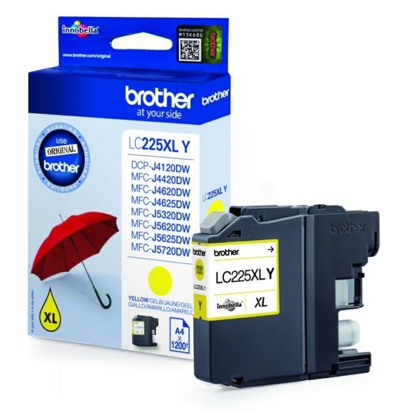 Original Brother LC225XLY Tintenpatrone gelb 11,8 ml 1.200 Seiten