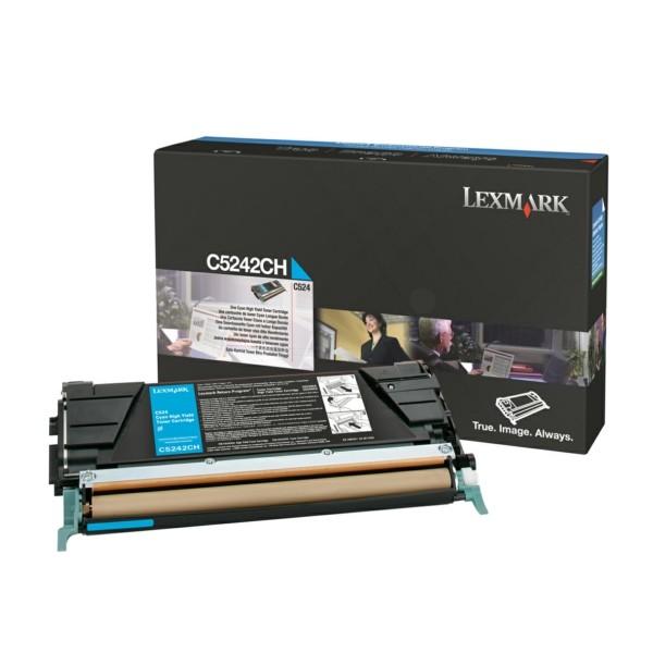 Original Lexmark C5242CH Toner-Kit cyan 5.000 Seiten