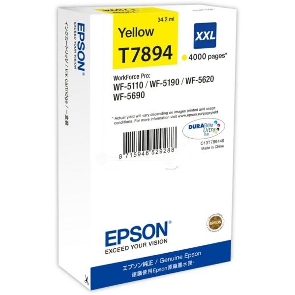 Original Epson C13T789440 / T7894 XXL Tintenpatrone gelb XXL 34,2 ml 4.000 Seiten