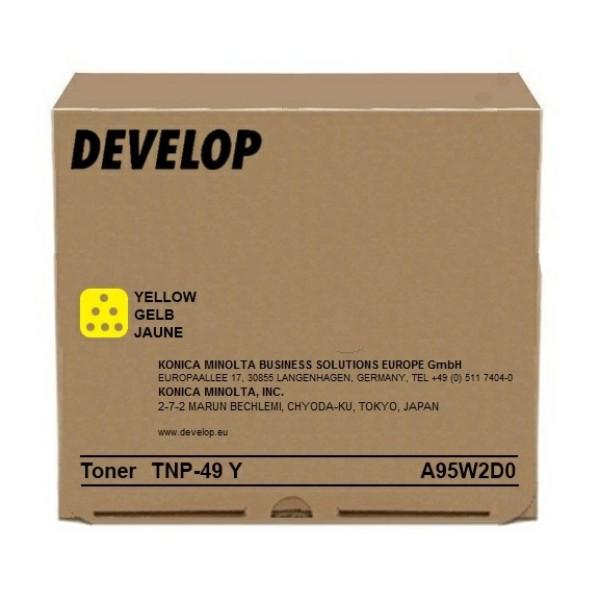 Original Develop A95W2D0 / TNP-49 Y Toner gelb 12.000 Seiten