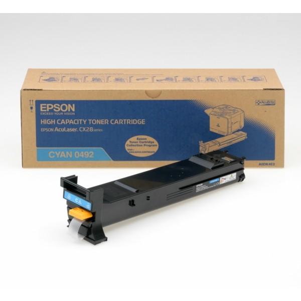 Original Epson C13S050492 / 0492 Toner cyan 8.000 Seiten