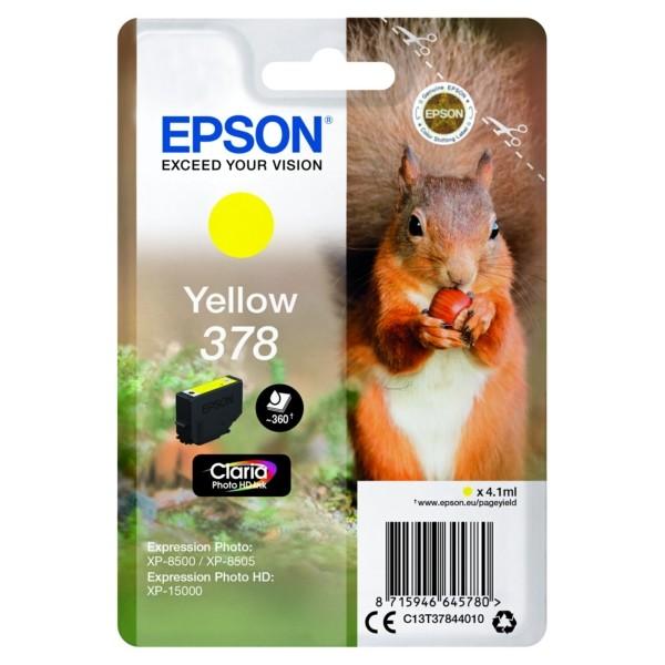 Original Epson C13T37844010 / 378 Tintenpatrone gelb 4,1 ml 360 Seiten