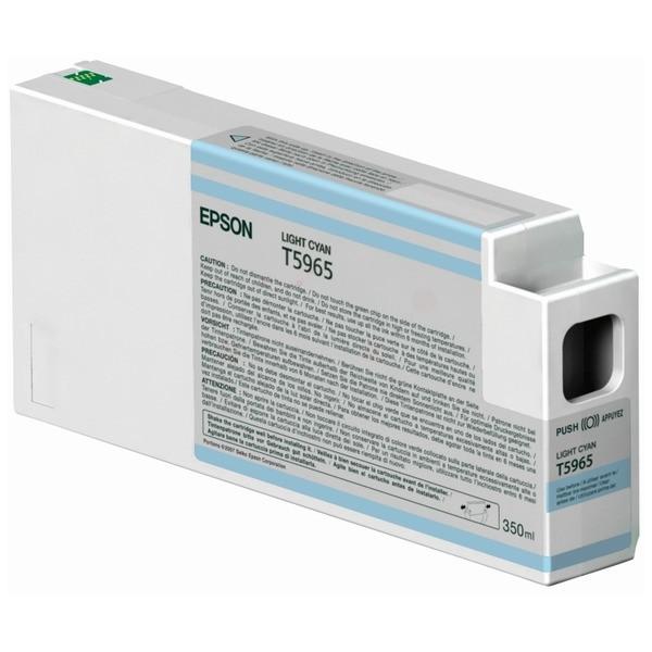 Original Epson C13T596500 / T5965 Tintenpatrone cyan hell 350 ml