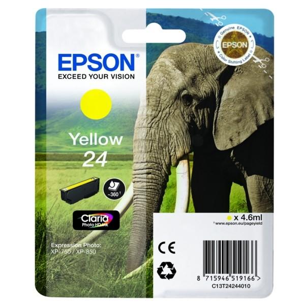 Original Epson C13T24244012 / 24 Tintenpatrone gelb 4,6 ml 360 Seiten