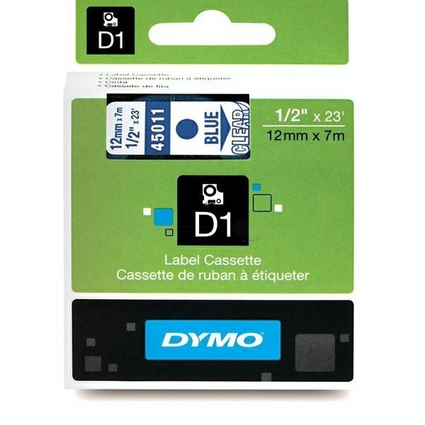 Original Dymo 45011 / S0720510 DirectLabel-Etiketten blau auf Transparent