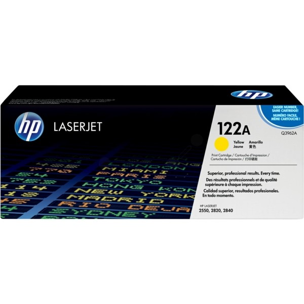 Original HP Q3962A / 122A Toner gelb 4.000 Seiten