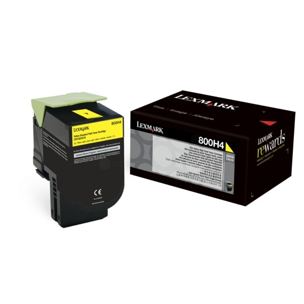 Original Lexmark 80C0H40 / 800H4 Toner-Kit gelb 3.000 Seiten