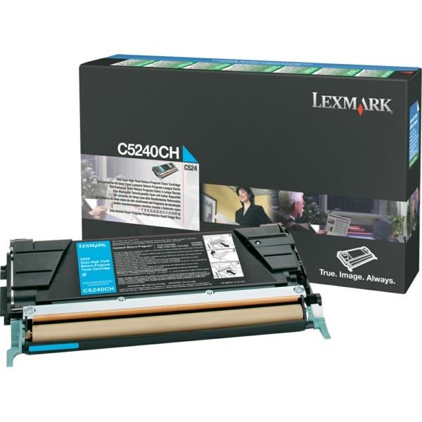 Original Lexmark C5240CH Toner-Kit cyan return program 5.000 Seiten