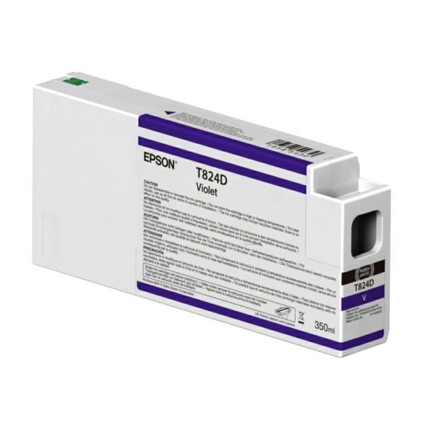 Original Epson C13T824D00 / T824D Tintenpatrone violett 350 ml