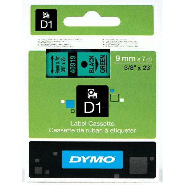 Original Dymo 40919 / S0720740 DirectLabel-Etiketten schwarz auf grün
