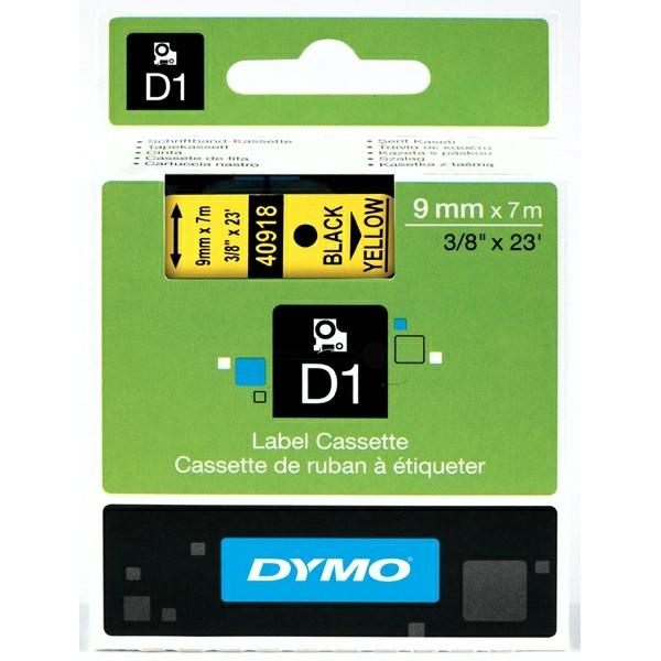 Original Dymo 40918 / S0720730 DirectLabel-Etiketten schwarz auf gelb