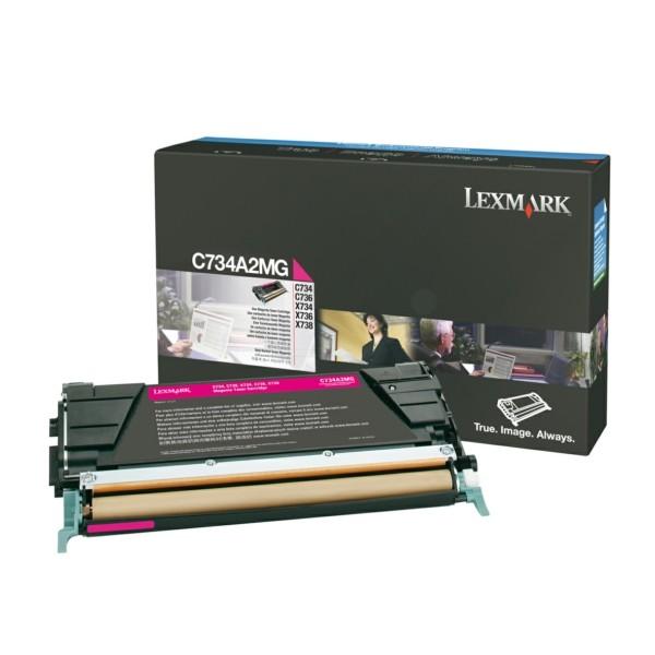 Original Lexmark C734A2MG Toner-Kit magenta 6.000 Seiten