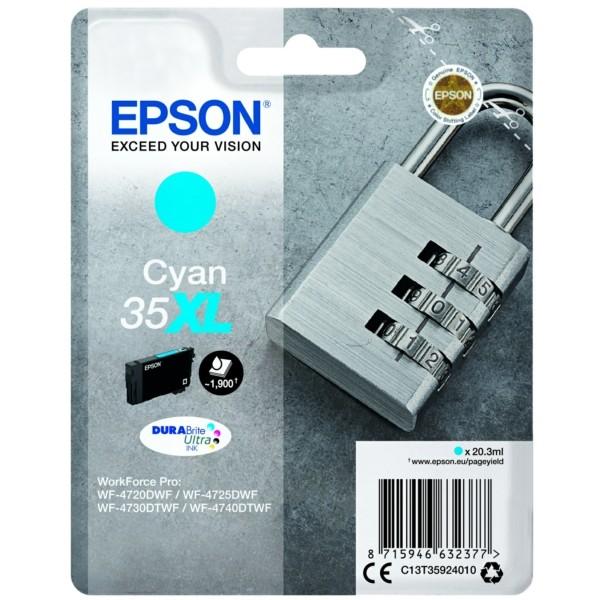 Original Epson C13T35924010 / 35XL Tintenpatrone cyan 20,3 ml 1.900 Seiten