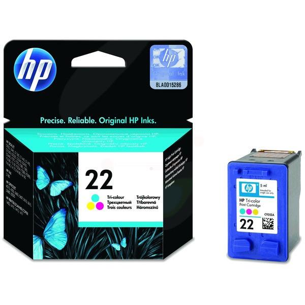 Original HP C9352AE / 22 Druckkopfpatrone color 5 ml 165 Seiten
