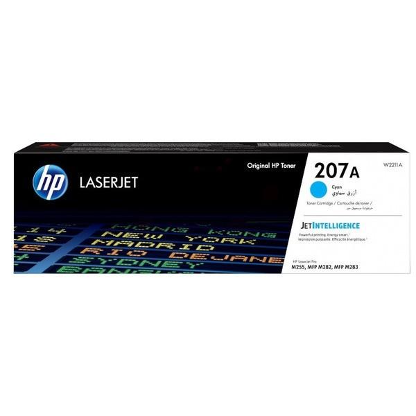 Original HP W2211A / 207A Tonerkartusche cyan 1.250 Seiten
