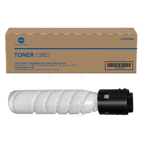 Original Konica Minolta A3VW050 / TN-118 Toner-Kit schwarz 12.000 Seiten