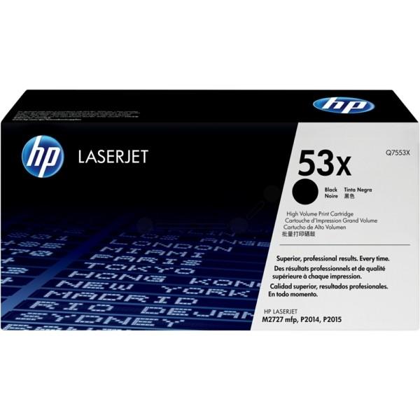 Original HP Q7553X / 53X Tonerkartusche schwarz 7.000 Seiten