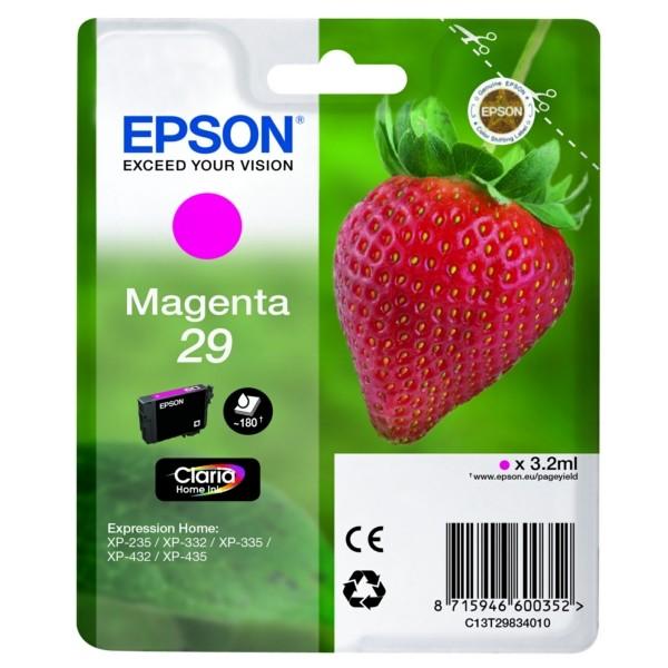 Original Epson C13T29834012 / 29 Tintenpatrone magenta 3,2 ml 180 Seiten