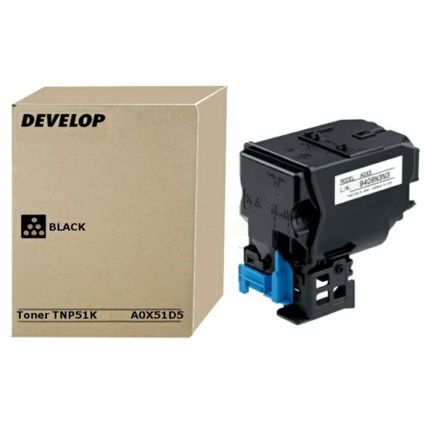 Original Develop A0X51D5 / TNP-51 K Toner-Kit schwarz 5.000 Seiten