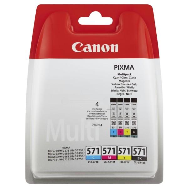 Original Canon 0386C005 / CLI-571 Tintenpatrone MultiPack Bk,C,M,Y 7 ml 1.105 Seiten