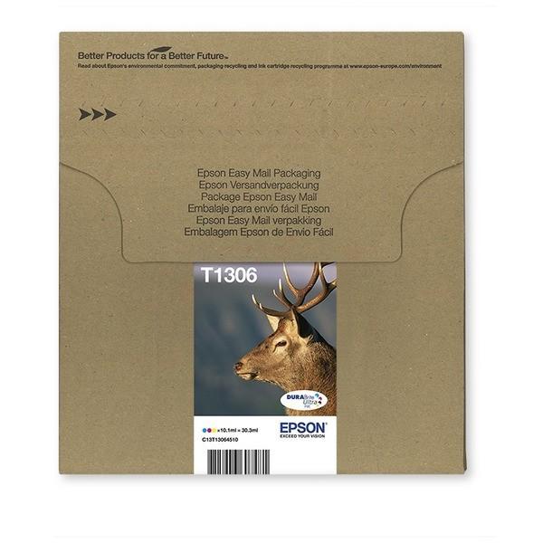 Original Epson C13T13064510 / T1306 Tintenpatrone MultiPack C,M,Y XL EasyMail 3x10.1ml