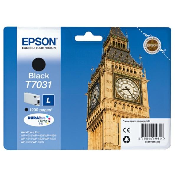 Original Epson C13T70314010 / T7031 Tintenpatrone schwarz 24 ml 1.200 Seiten