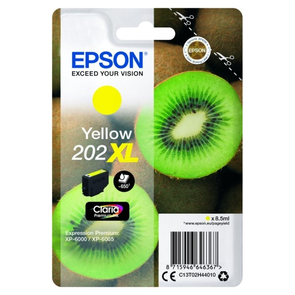 Original Epson C13T02H44010 / 202XL Tintenpatrone gelb 8,5 ml 650 Seiten