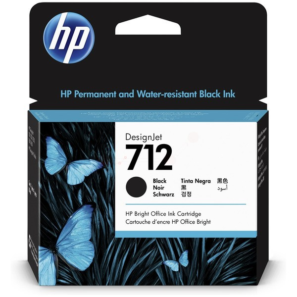 Original HP 3ED71A / 712 Tinte black 80 ml