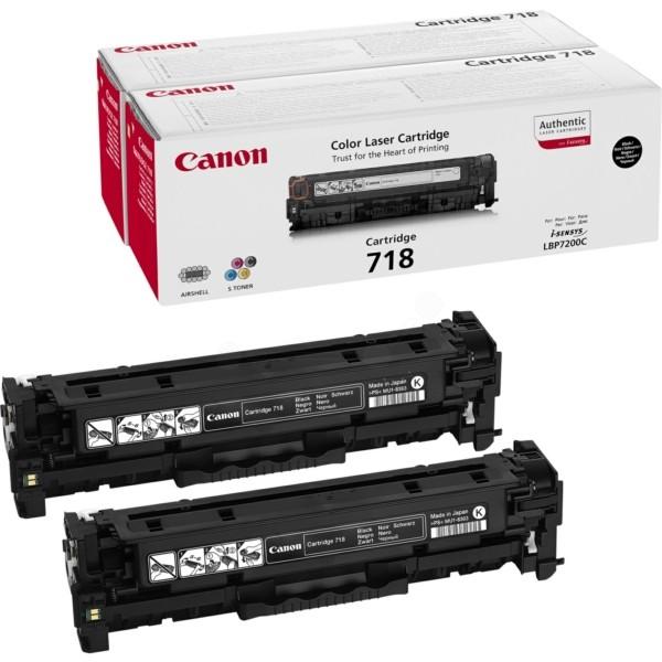 Original Canon 2662B005 / 718BKVP Tonerkartusche schwarz Doppelpack 3.400 Seiten