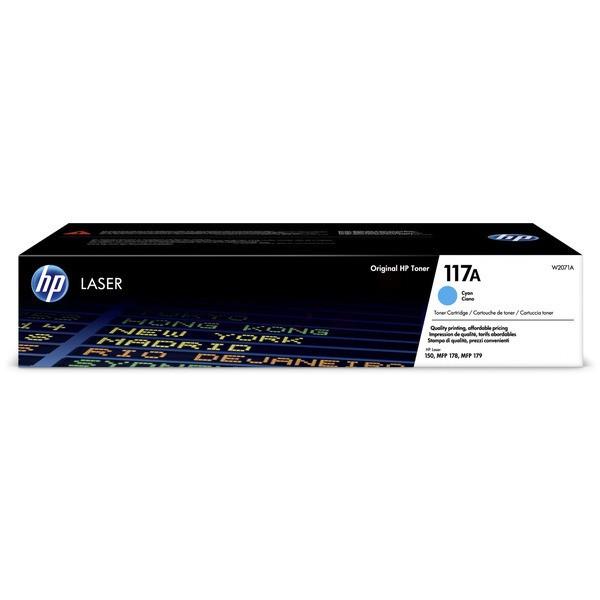 Original HP W2071A / 117A Toner-Kit cyan 700 Seiten