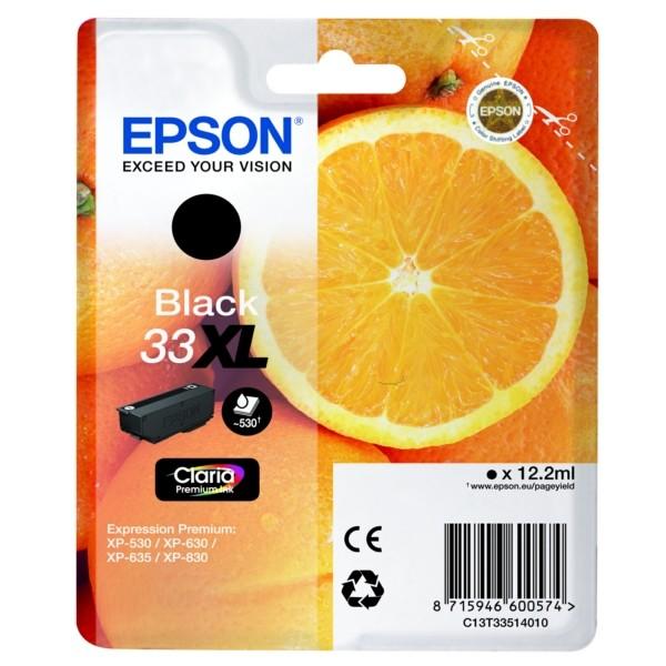 Original Epson C13T33514012 / 33XL Tintenpatrone schwarz 12,2 ml 530 Seiten