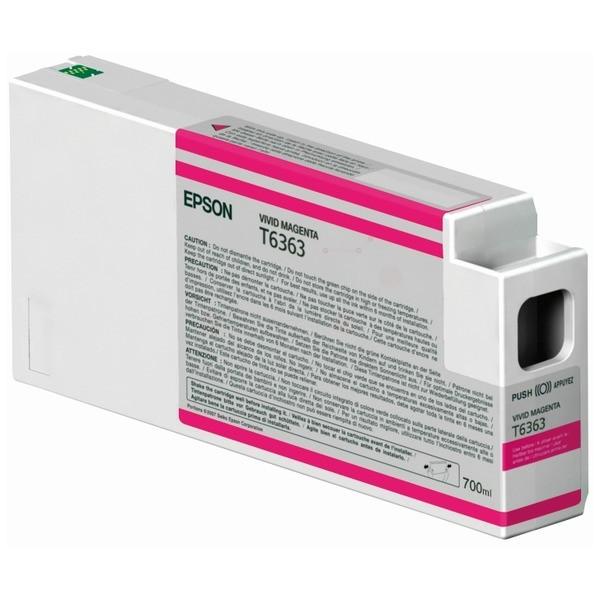Original Epson C13T636300 / T6363 Tintenpatrone magenta 700 ml