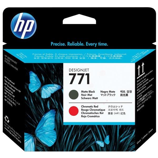 Original HP CE017A / 771 Druckkopf schwarz matt / rot 775 ml