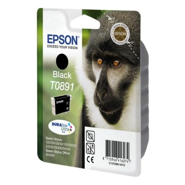 Original Epson C13T08914011 / T0891 Tintenpatrone schwarz 5,8 ml 170 Seiten