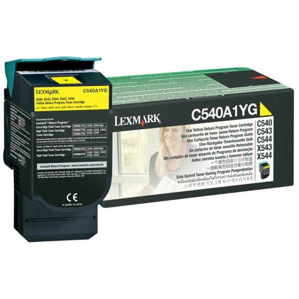 Original Lexmark C540A1YG Toner gelb return program 1.000 Seiten