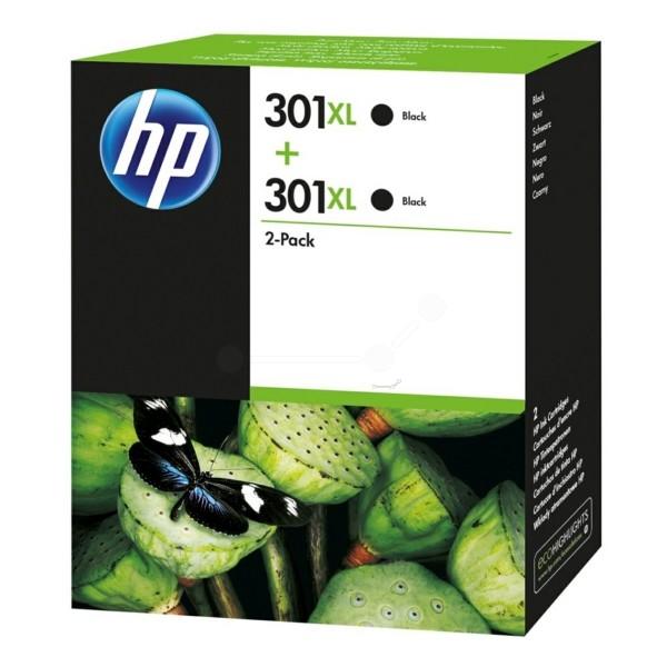 Original HP D8J45AE / 301XL Druckkopfpatrone schwarz High-Capacity Doppelpack 8 ml 480 Seiten