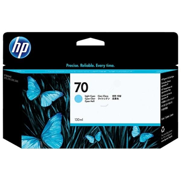 Original HP C9390A / 70 Tintenpatrone cyan hell 130 ml
