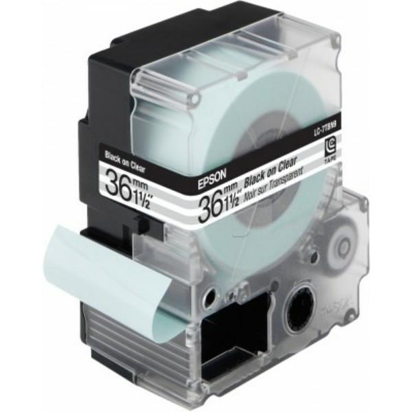 Original Epson C53S628404 / LC-7TBN9 Farbband schwarz auf Transparent