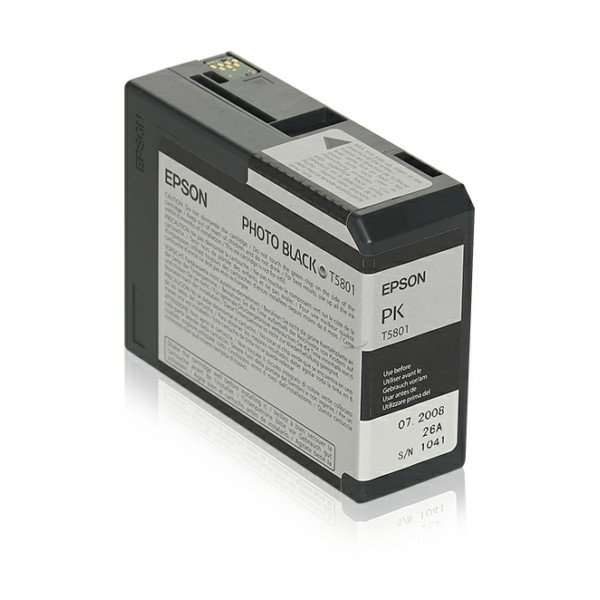 Original Epson C13T580100 / T5801 Tintenpatrone schwarz Foto 80 ml