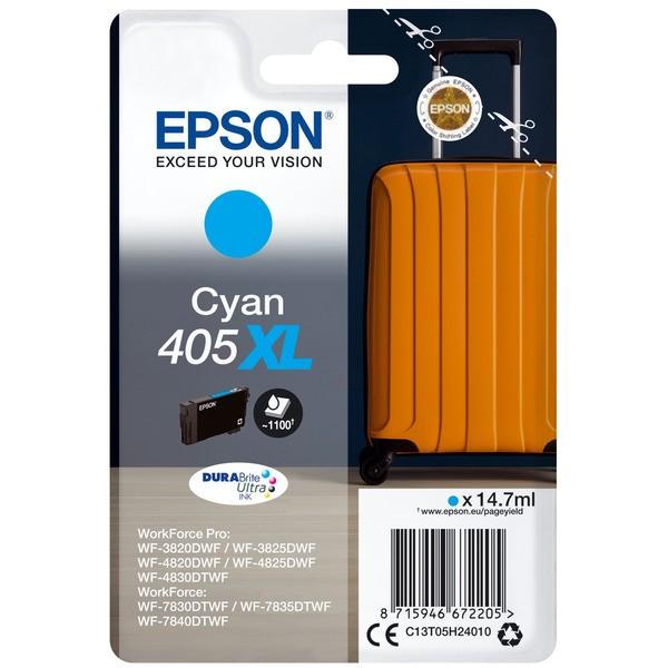 Original Epson C13T05H24010 / 405 XL Tintenpatrone cyan 14,7 ml 1.100 Seiten