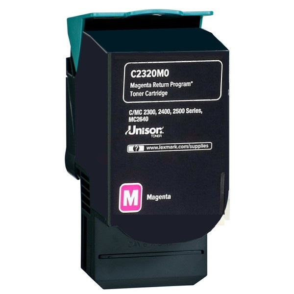 Original Lexmark C2320M0 Toner-Kit magenta return program 1.000 Seiten