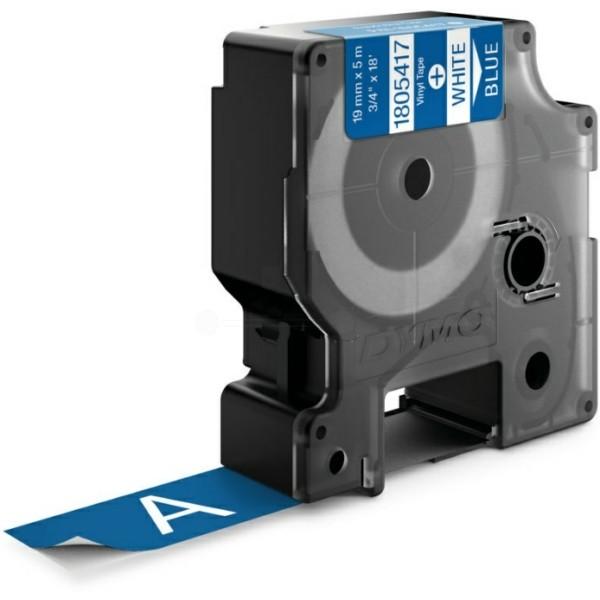 Original Dymo 1805417 Farbband Vinyl weiss auf blau
