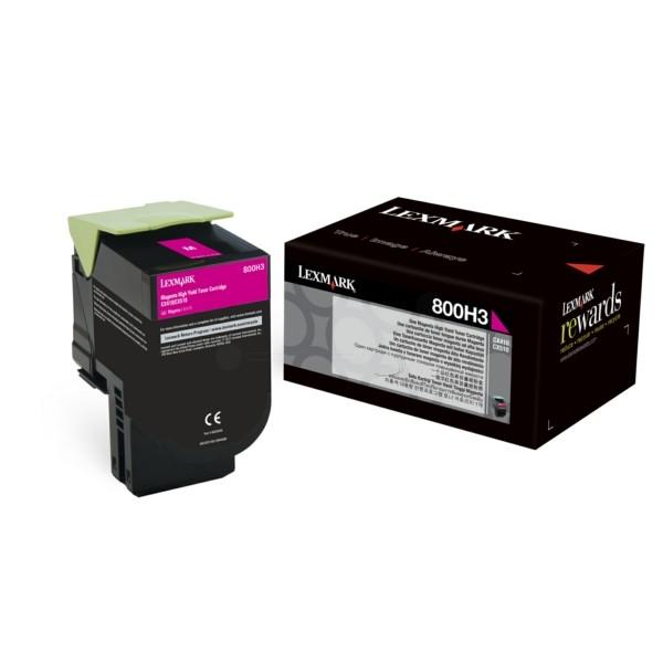 Original Lexmark 80C0H30 / 800H3 Toner-Kit magenta 3.000 Seiten