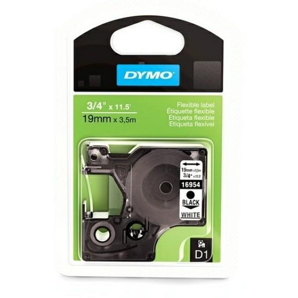 Original Dymo 16958 / S0718050 DirectLabel-Etiketten Nylonband schwarz auf weiss